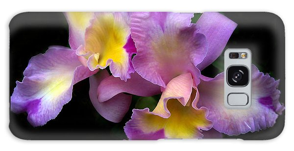 Galaxy Case featuring the photograph Orchid Embrace by Jessica Jenney