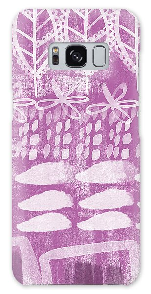 Orchid Fields Galaxy Case by Linda Woods