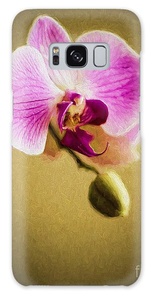 Orchid In Digital Oil Galaxy Case
