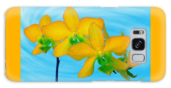 Orchid In Yellow Galaxy Case