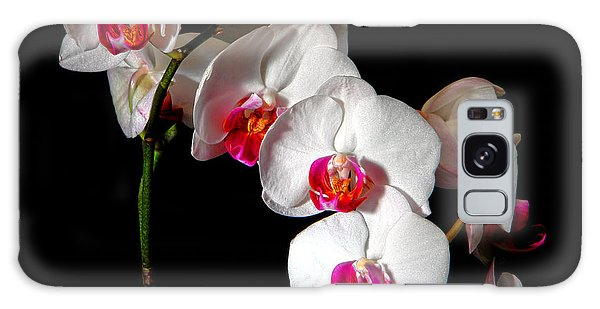 Orchidaceae Galaxy Case - Orchid On Black by Olivier Le Queinec