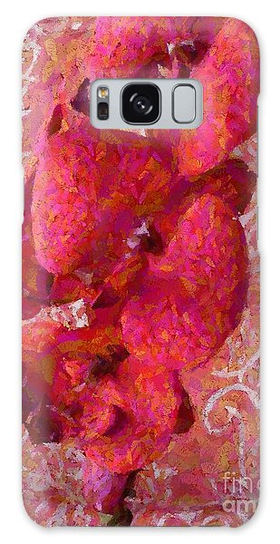 Orchid On Fabric Galaxy Case by Barbie Corbett-Newmin