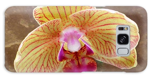 Orchid On Marble Galaxy Case