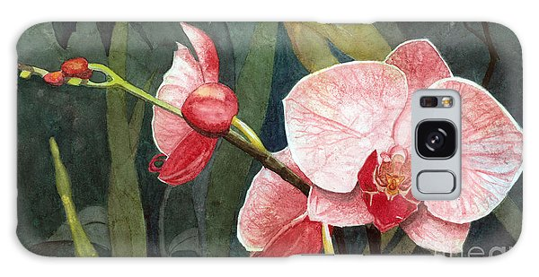 Orchid Trio 2 Galaxy Case by Barbara Jewell