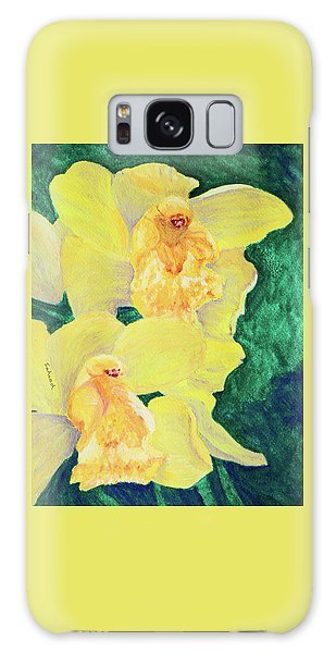 Orchid Yellow Galaxy Case by Margaret Saheed