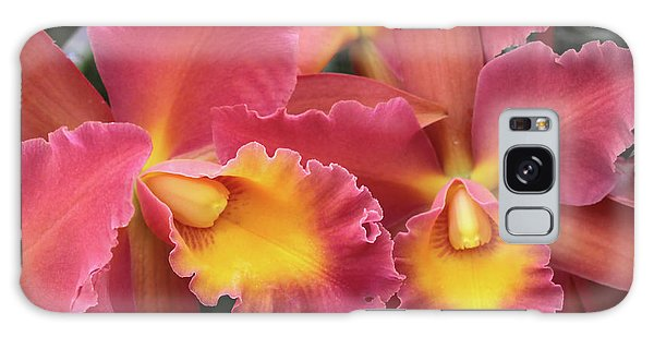 Orchids Ablaze Galaxy Case