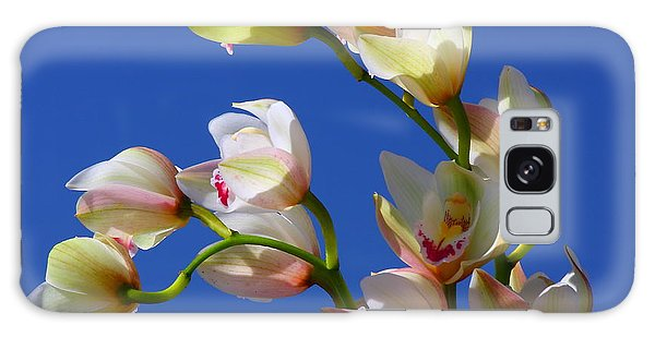 Orchids Against A Blue Sky Galaxy Case