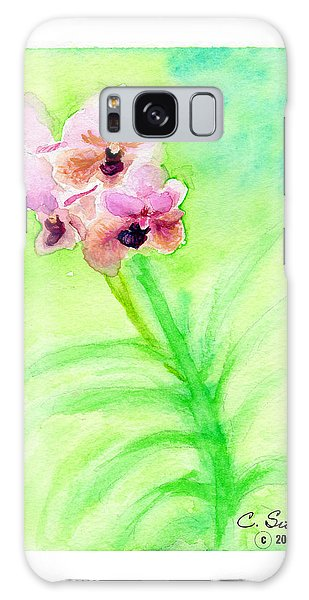 Orchids Galaxy Case by C Sitton