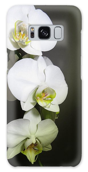 Orchids On Gray Galaxy Case