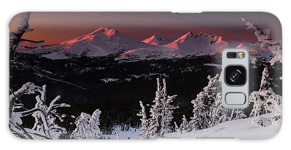 Oregon Cascades Winter Sunset Galaxy Case