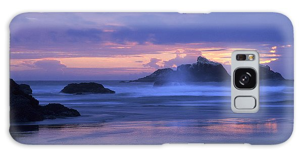 Oregon Coast Sunset Galaxy Case by Chris Scroggins
