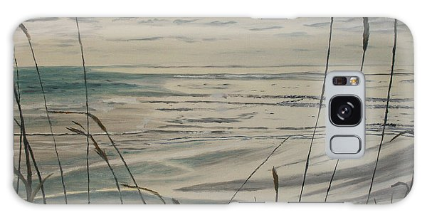Oregon Coast With Sea Grass Galaxy Case by Ian Donley
