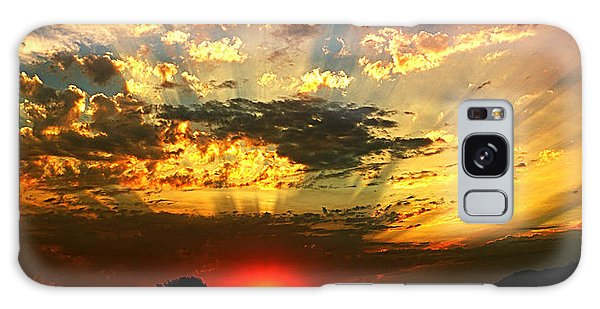 Oregon Crepuscular Sunset Galaxy Case by Nick Kloepping