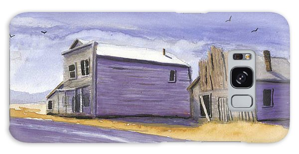 Oregon Ghost Town Watercolor Galaxy Case