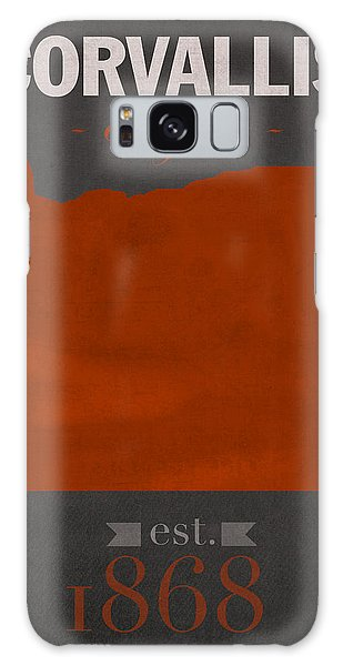 Oregon State University Beavers Corvallis College Town State Map Poster Series No 087 Galaxy Case