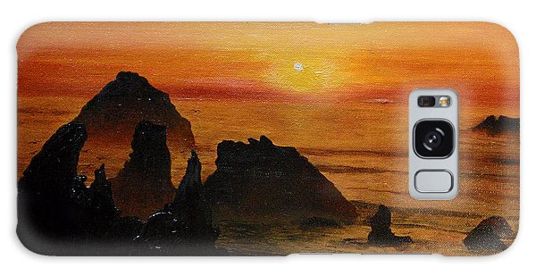 Oregon Sunset Galaxy Case by Suzette Kallen