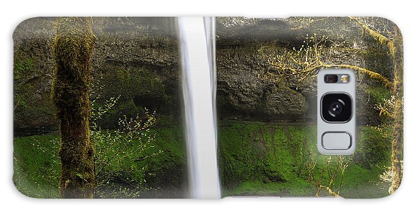 Oregon Waterfall Woodland Galaxy Case by Andrea Hazel Ihlefeld