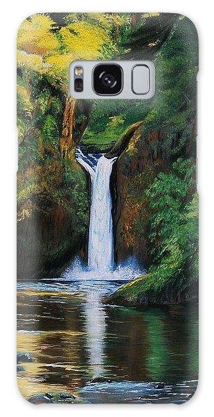 Oregon's Punchbowl Waterfalls Galaxy Case