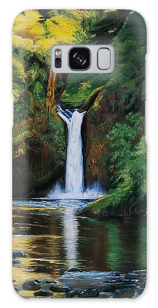 Oregon's Punchbowl Waterfalls Galaxy Case