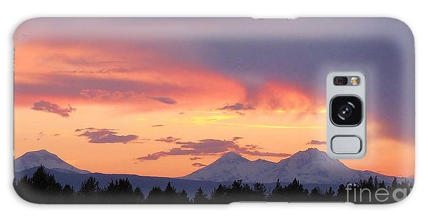 Oregon's Three Sisters  Galaxy Case by Michele Penner