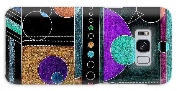 Organized Planets Galaxy Case by Mary Bedy