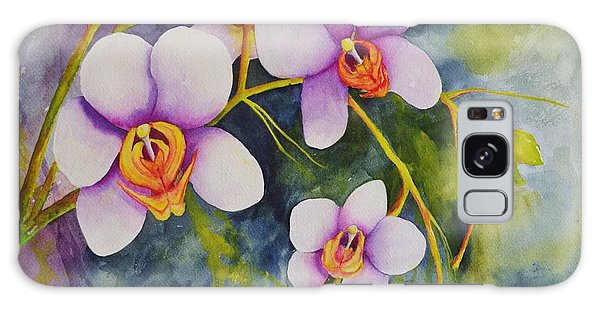 Orchids In My Garden Galaxy Case
