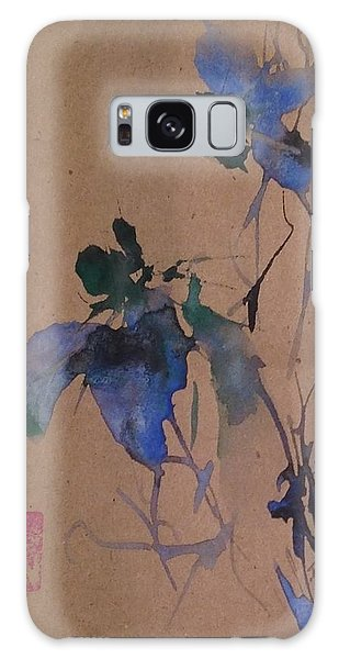 Oriental Blue Louisiana Iris Flower Study  Galaxy Case
