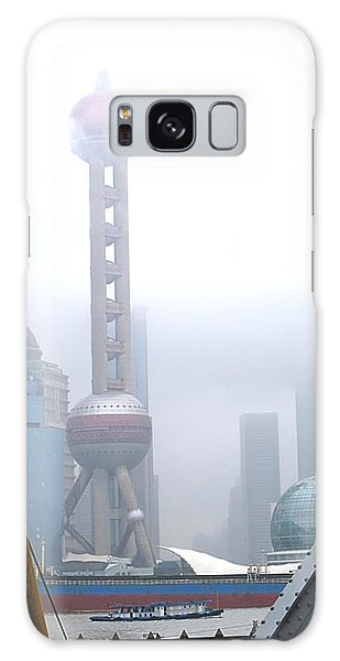 Oriental Pearl Tower Under Fog Galaxy Case by Nicola Nobile