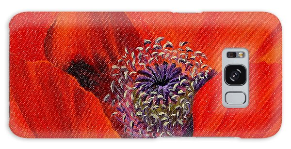 Oriental Poppy Galaxy Case