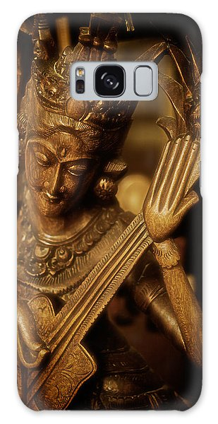 Oriental Wooden Princess Playing Instrument Galaxy Case