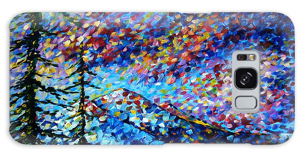 Impressionism Galaxy Case - Original Abstract Impressionist Landscape Contemporary Art By Madart Mountain Glory by Megan Duncanson