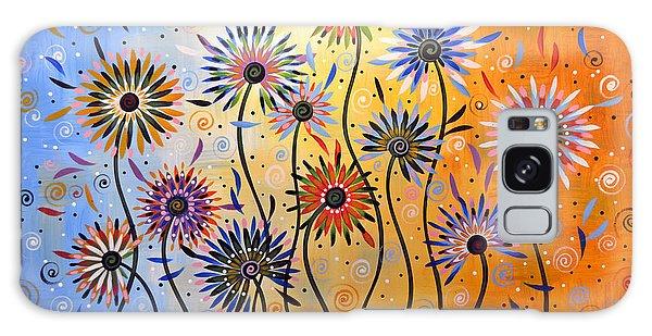 Original Abstract Modern Flowers Garden Art ... Explosion Of Joy Galaxy Case
