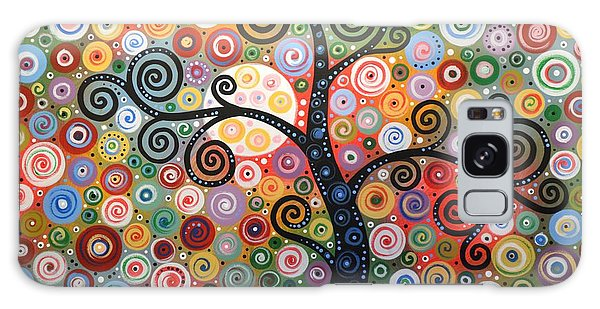 Original Abstract Painting Landscape Print ... Dreaming Of Magic Galaxy Case