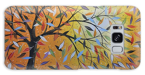 Original Abstract Painting Landscape Print ... Into The Wind Galaxy Case by Amy Giacomelli