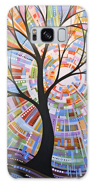 Original Abstract Tree Landscape Painting ... Here Comes The Sun Galaxy Case by Amy Giacomelli
