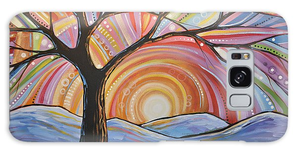 Original Abstract Tree Landscape Painting ... Mountain Majesty Galaxy Case by Amy Giacomelli