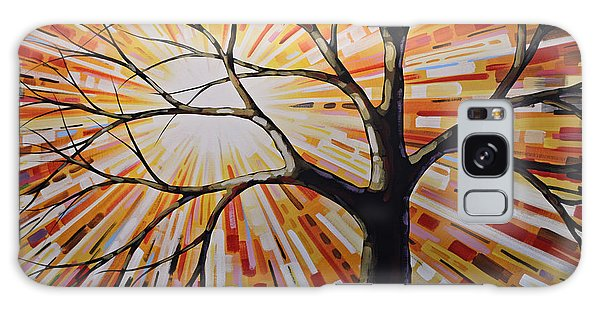 Original Abstract Tree Landscape Painting ... Shine Galaxy Case by Amy Giacomelli