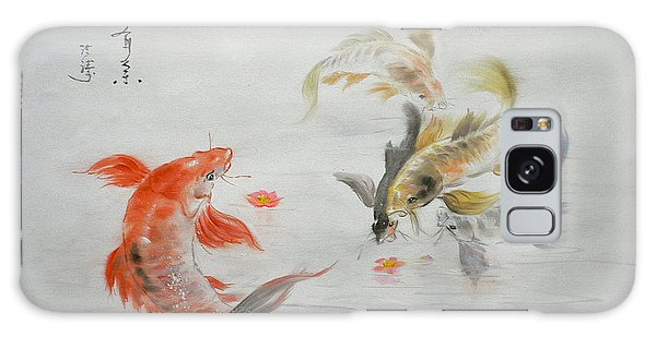 Original Animal  Oil Painting Art- Goldfish Galaxy Case