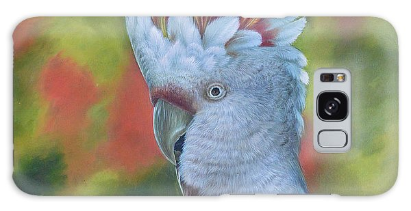 Original Animal Oil Painting Art -parrot #16-2-5-17 Galaxy Case