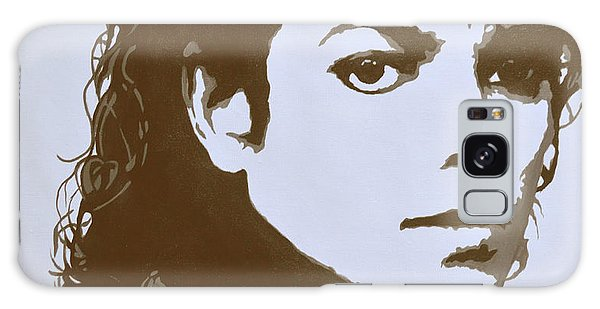 original black an white acrylic paint art- portrait of Michael Jackson#16-2-4-12 Galaxy Case