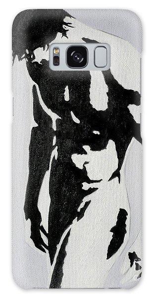 Original Black An White Acrylic Paint Man Gay Art -male Nude#16-2-4-17 Galaxy Case