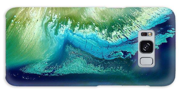 Original Blue Abstract Art Hidden Mountain By Kredart Galaxy Case