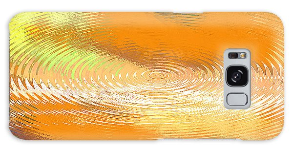 Original Fine Art Digital Abstract Galaxie Orange Galaxy Case