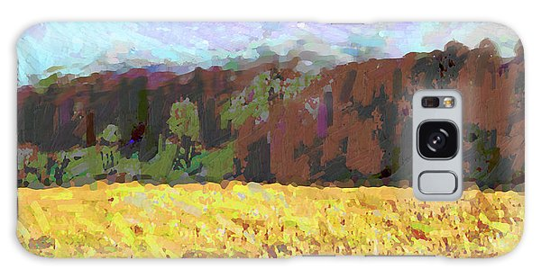 Original Fine Art Digital Autumn Fields Maryland Detail Galaxy Case