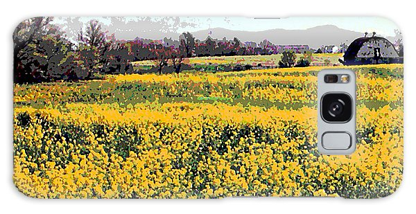 Original Fine Art Digital Fields Yellow Flowers Maryland Galaxy Case