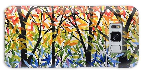 Original Modern Rainbow Trees Painting ... Spectrum Of Trees Galaxy Case