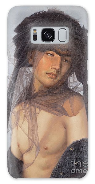 Original Oil Painting  Man Body Art-  Male Nude-053 Galaxy Case