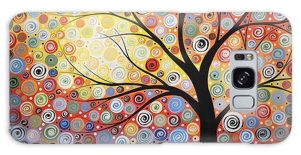 Original Painting Print Titled Celestial Sunset Galaxy Case by Amy Giacomelli