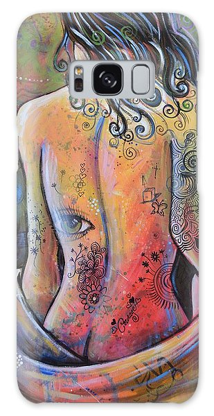 Original Painting Woman Art Art Print ... The Company You Keep Galaxy Case by Amy Giacomelli