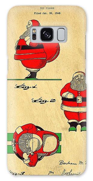 Original Patent For Santa On Skis Figure Galaxy Case